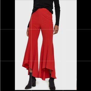 Stelen Sierra red high rise flare pants size L